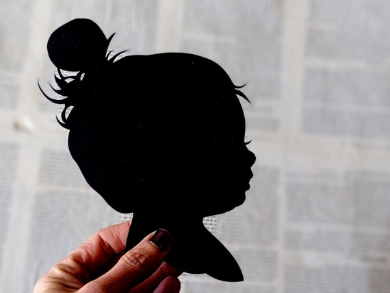 Custom Hand Cut Child Silouhette Portrait Custom Silhouette Hand Cut Art