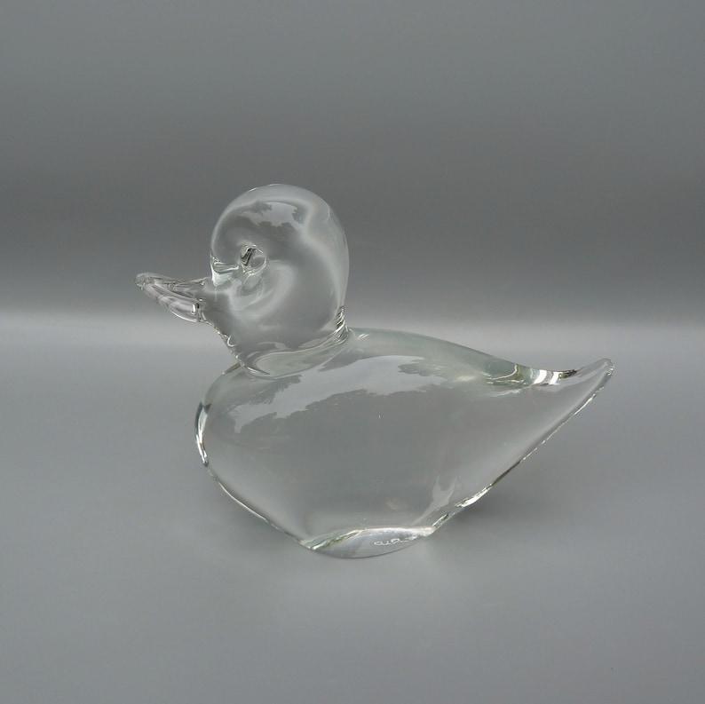 Elio Raffaeli Glass Duck Sculpture Italian Murano Glass Duck,Elio Glass Sculpture,Vintage Murano Glass Sculpture,Raffaeli Glass Paperweight