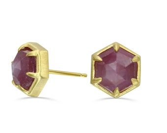 Vintage 14k Pink Star Sapphire Tie Tack Gold Gemstone Fine Jewelry Mens Accessories Gift for Him