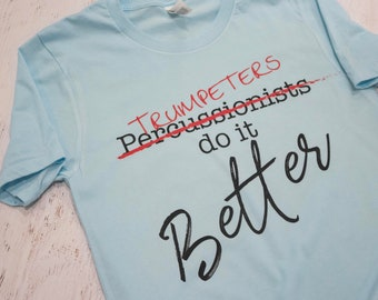 Musician's do it better tee - customized instrument or vocal range FREE SHIPPING