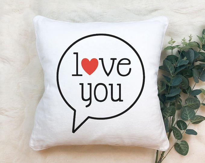 Featured listing image: Love you bubble on soft white throw pillow