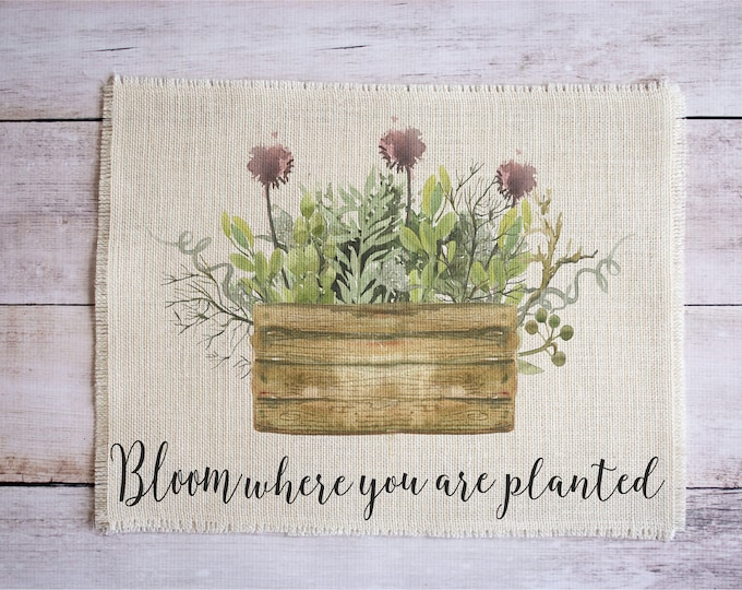 Featured listing image: Bloom where you are planted placemats - set of two cottage chic style place mats