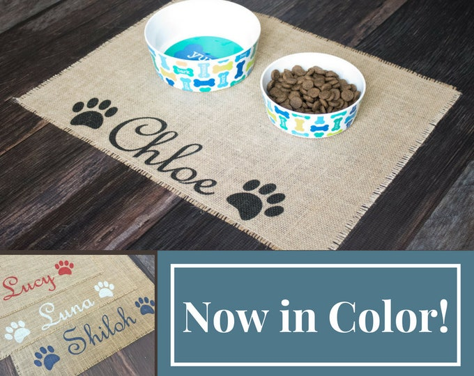 Featured listing image: Custom puppy dog pet placemat for your dog's food bowls