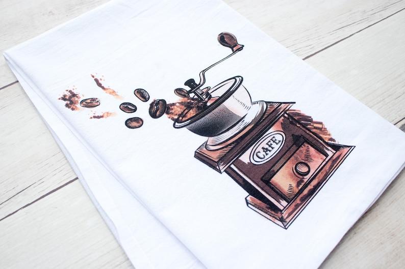 Vintage Coffee Grinder  premium tea towel image 0