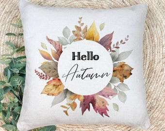 Hello Autumn- extra soft fall decor throw pillow