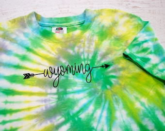 Wyoming youth tie dye t-shirt - for kids, by kids child's size small