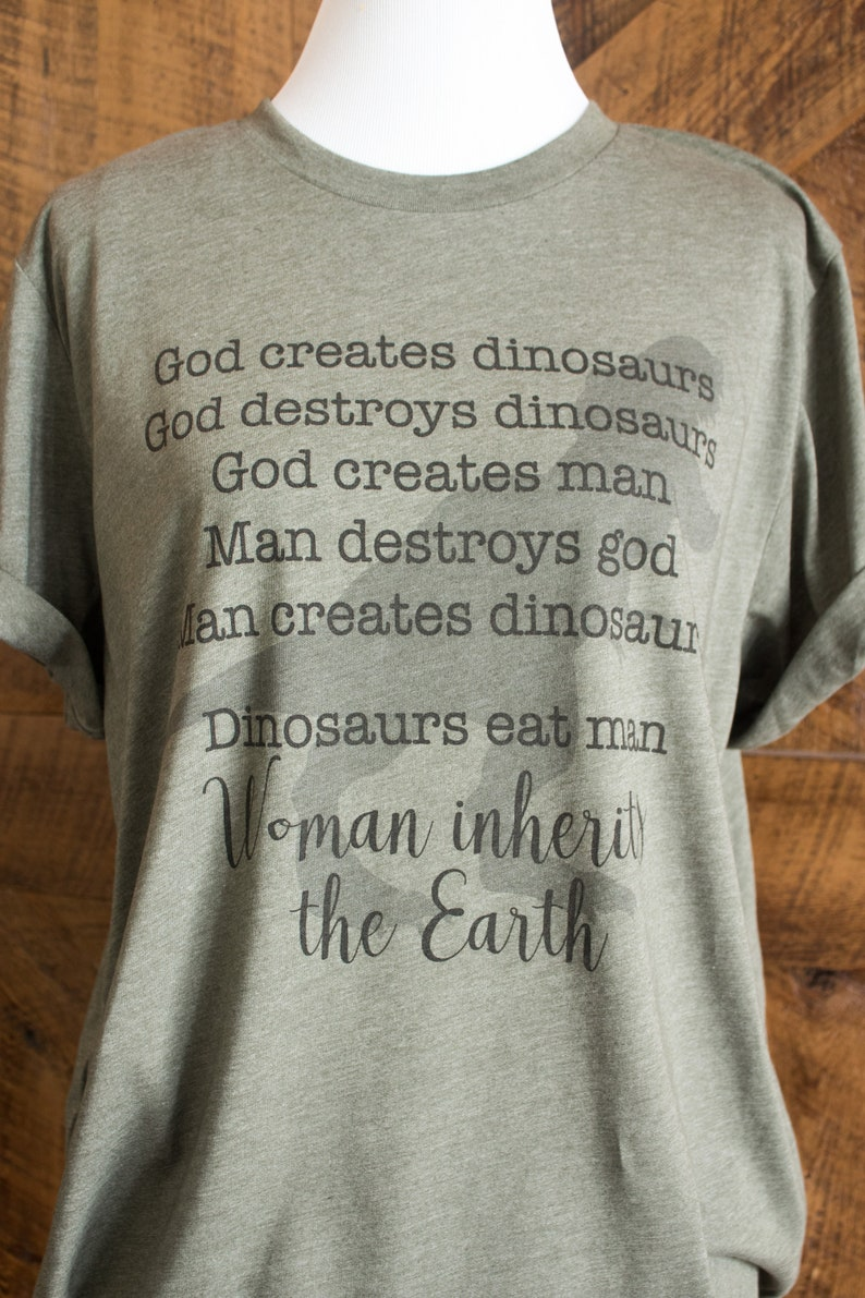 acbef9be Dinosaurs eat man Woman inherits the Earth Jurassic quote | Etsy
