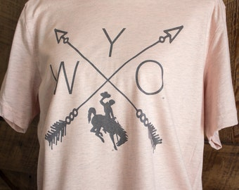 WYO tee - Wyoming bucking horse t-shirt