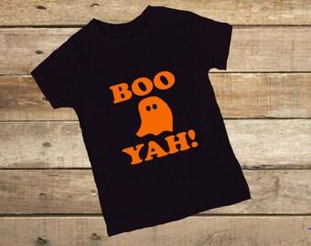 Halloween shirt Boo Yah  Boys tshirt Halloween tshirt boy gift fall ghost shirt
