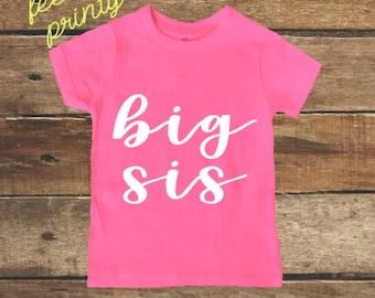 Big sis Shirt Big Sister Shirt Boys Shirt New Sister pink shirt