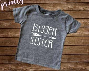 Bigger sister Shirt Big Sister Shirt Boys Shirt New Sister shirt big sis
