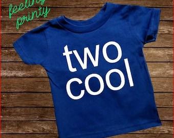 RoYaL bLuE Two Cool Second Birthday Shirt Two Birthday Shirt