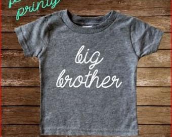 Big Brother Shirt Boys Shirt New Brother shirt grey big bro