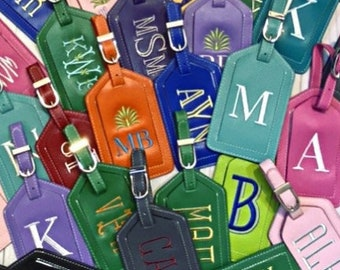 Monogrammed Luggage Tag, Personalized Luggage Tag, Graduation, Kids Luggage Tag, Gifts for Him, Wedding Gift for Couple, Travel Accessory