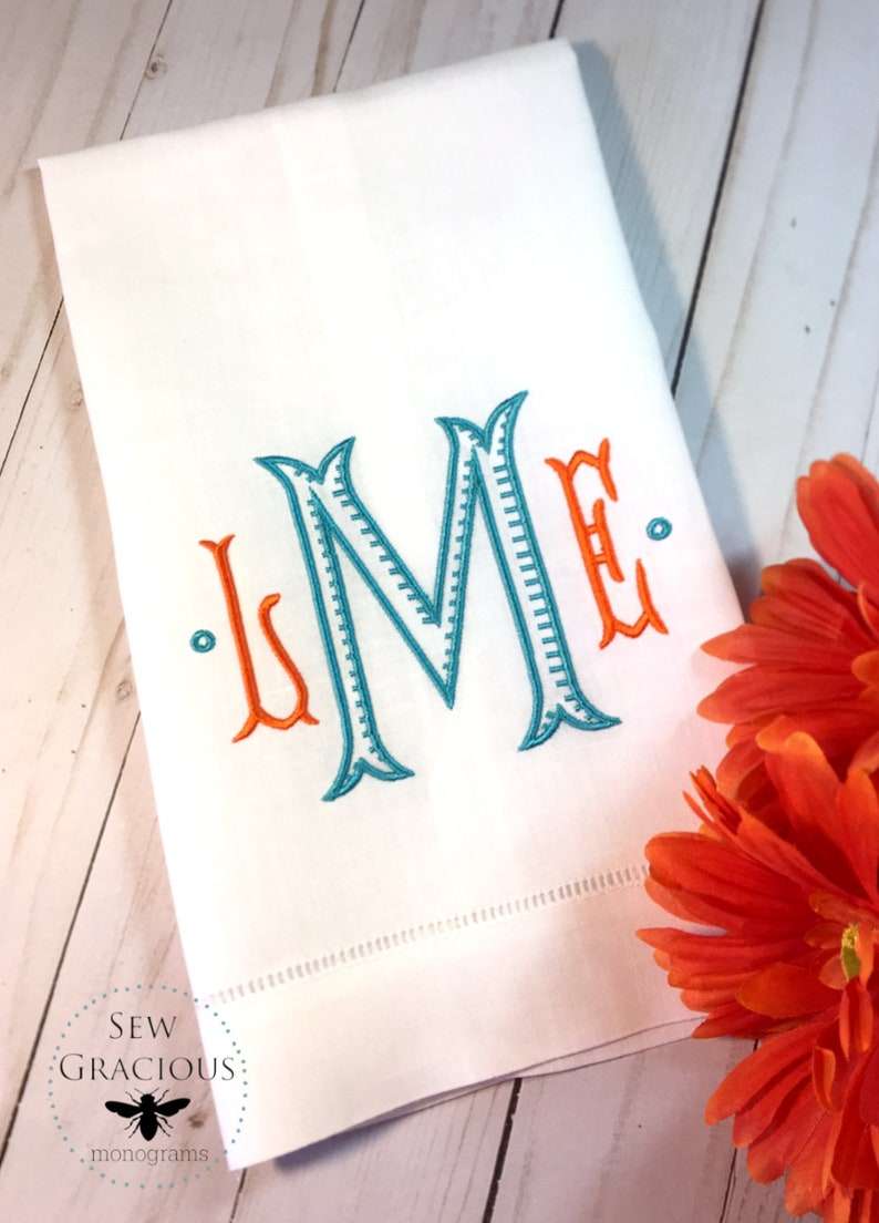 Monogram Guest Towel. Wedding Gift. Hostess Gift. Unique Gift. image 0