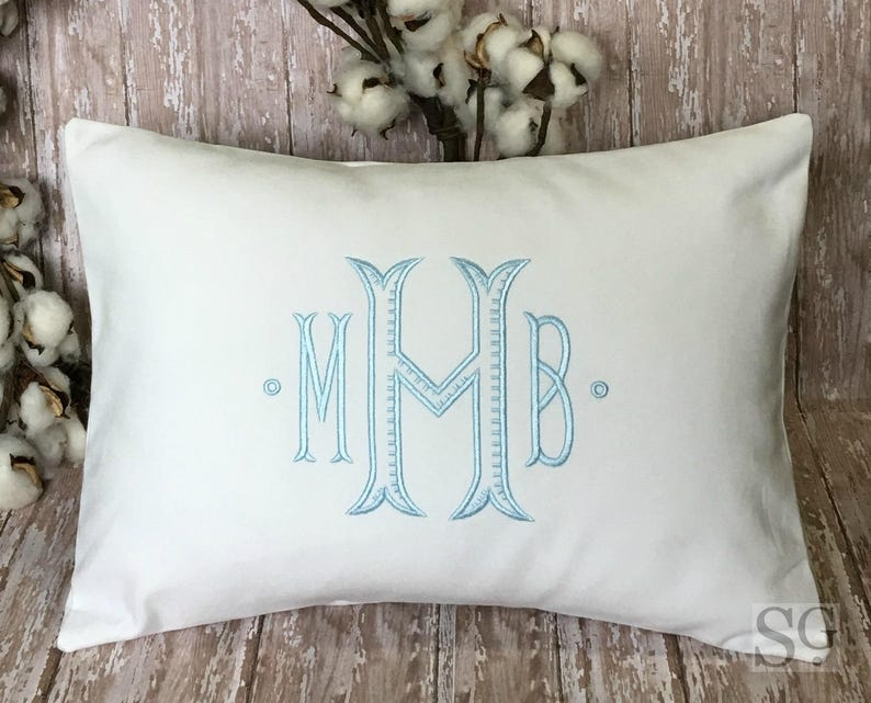 Chinoiserie Monogram Pillow Cover made to fit a 12x16 image 0