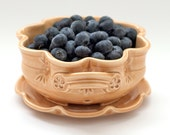 Berry Bowl - Fruit Strainer - Floral berry colander - color and size options