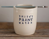 Custom Paint Water Cup - Brush Pot - Rinse Bowl - Brush Rest - Watercolor - Watercolour - gift for artist - pottery - personalized - CUP