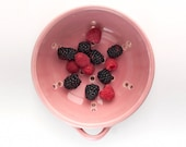 Ceramic Berry Colander with Saucer - Berry Bowl - Fruit Strainer - Pottery - size and color options