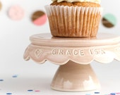 Personalized Baby Gift, Custom Cupcake Stand, First Birthday, Gift Ideas, Custom Birthday Gift, handmade pottery
