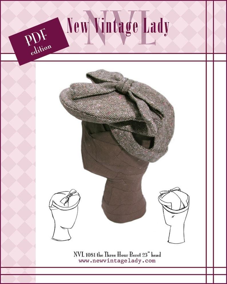 1940s Style Hats   Fascinator, Turban, Fedora NVL 1940s Three Hour Beret pattern in PDF 23
