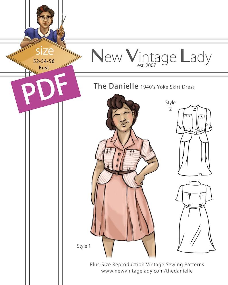 1940s Sewing Patterns – Dresses, Overalls, Lingerie etc The Danielle 1940s yoke skirt day dress $20.00 AT vintagedancer.com