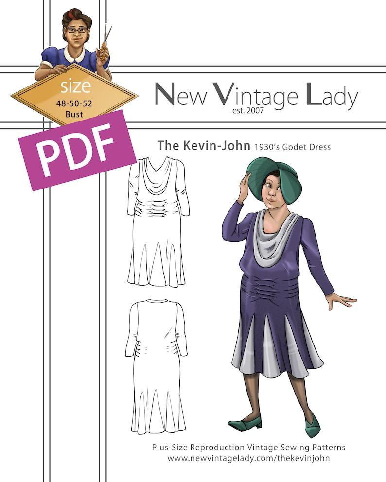 1930s Sewing Patterns- Dresses, Pants, Tops The Kevin-John 1930s Godet Dress PDF $20.00 AT vintagedancer.com