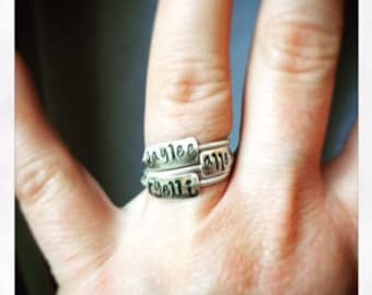 Name Stacking Rings