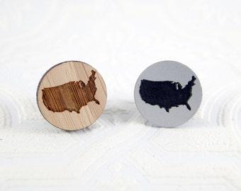 USA Needle Minder - pick silver acrylic or bamboo