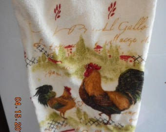 MadieBs Rooster on the Farm Plastic Bag Holder Dispenser