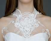SAMPLE SALE High Neck Lace Wedding Dress, Victorian Wedding,Casual Wedding, Short Reception Dress, Short lace Dress, Boho, bohemian dress