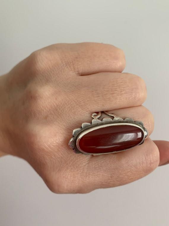 1970s carnelian stone ring... I can see Joni Mitch