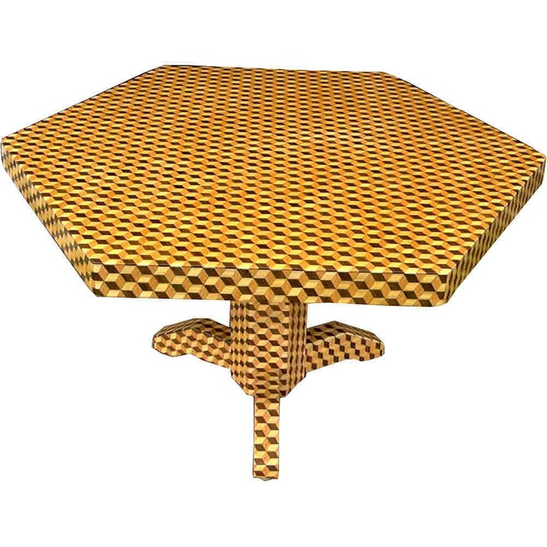 Large Tumbling Block Table image 0