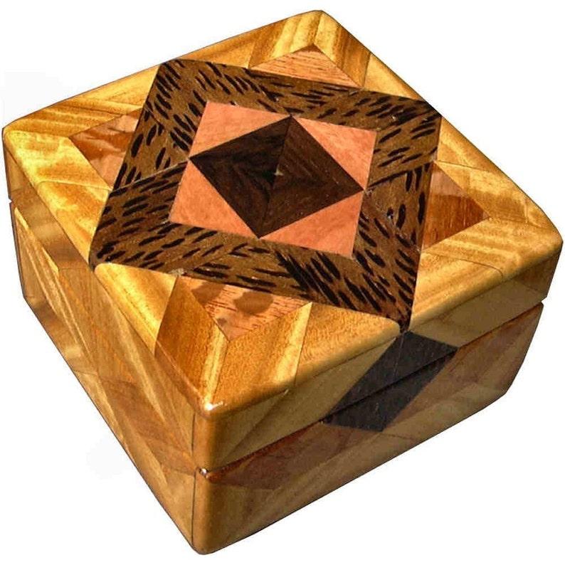 Satinwood and Lacewood Tiny Square Box image 0
