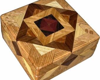 ASC High Oak Square Box