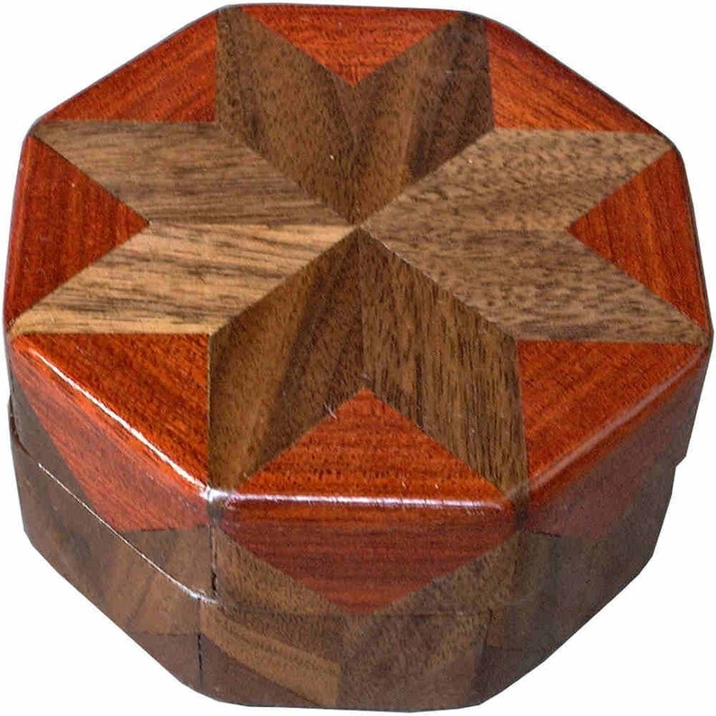 Walnut And Bloodwood Ring Box image 0