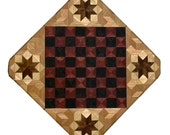 Purpleheart and Wenge with Star Chess Board