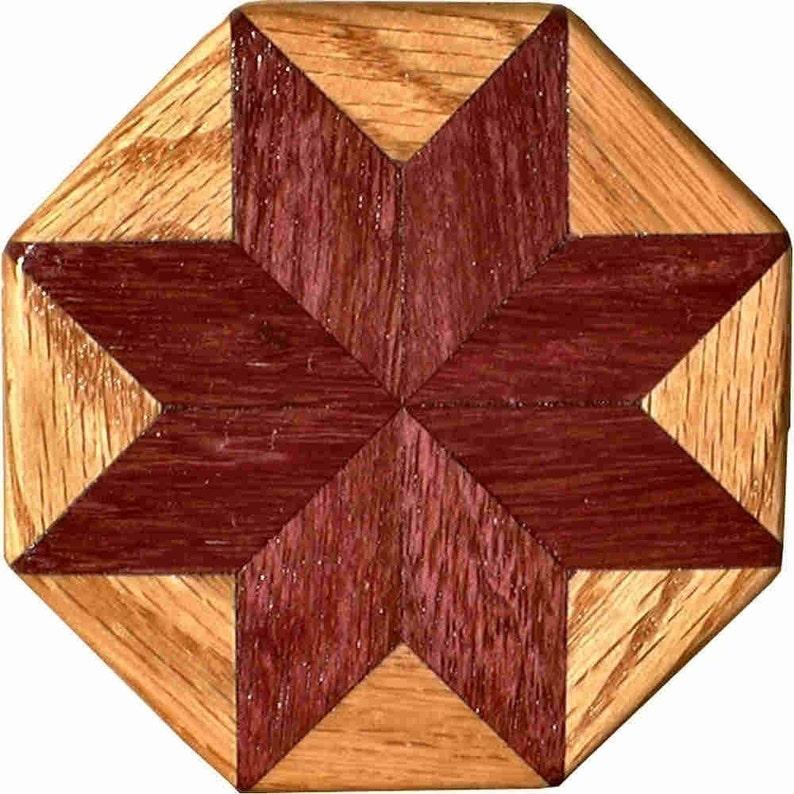 Purpleheart-Oak Pattern Weight image 0