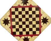 Hackberry, Wenge, Purpleheart with Star Chess Board