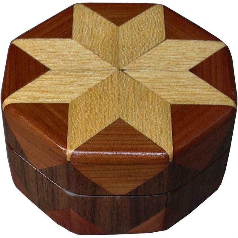 Hackberry Cedar and Walnut Ring Box image 0