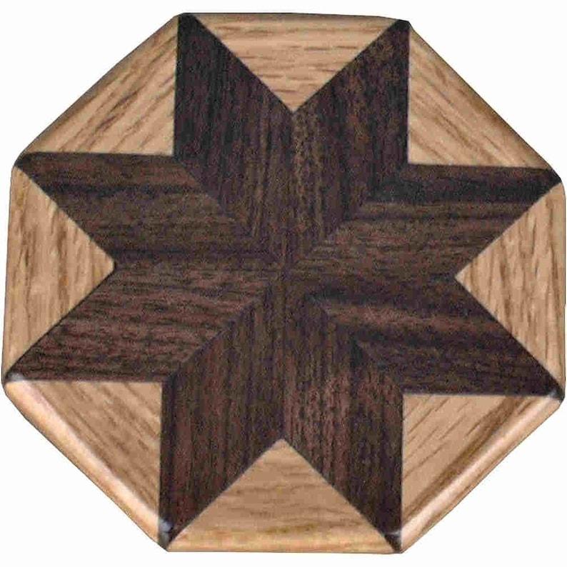 Walnut-Oak Pattern Weight image 0