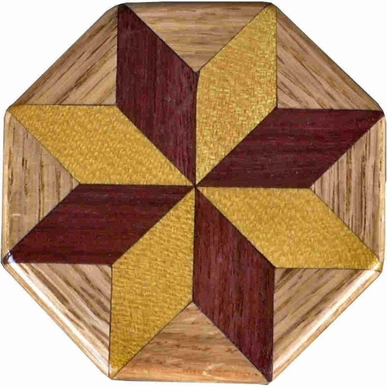 SW-Ph-Oak Quilt Block Pattern Weight image 0