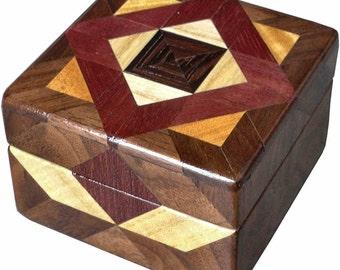 Black Center Tiny Square Box