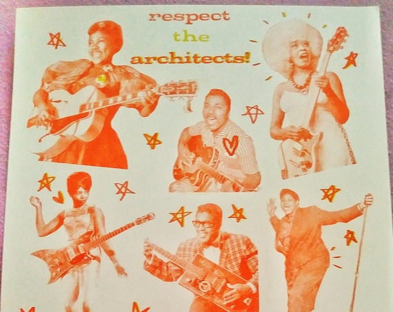 the architects of rock limited edition risograph