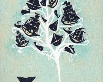 lost at sea print