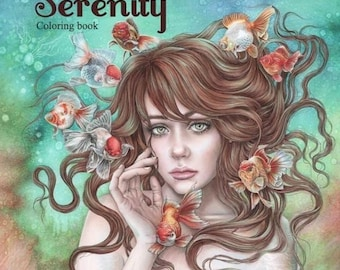 Serenity Coloring Etsy