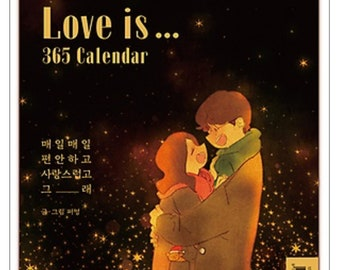 Love is... 365 Daily Calendar for Every Year By Puuung Desk Calendar