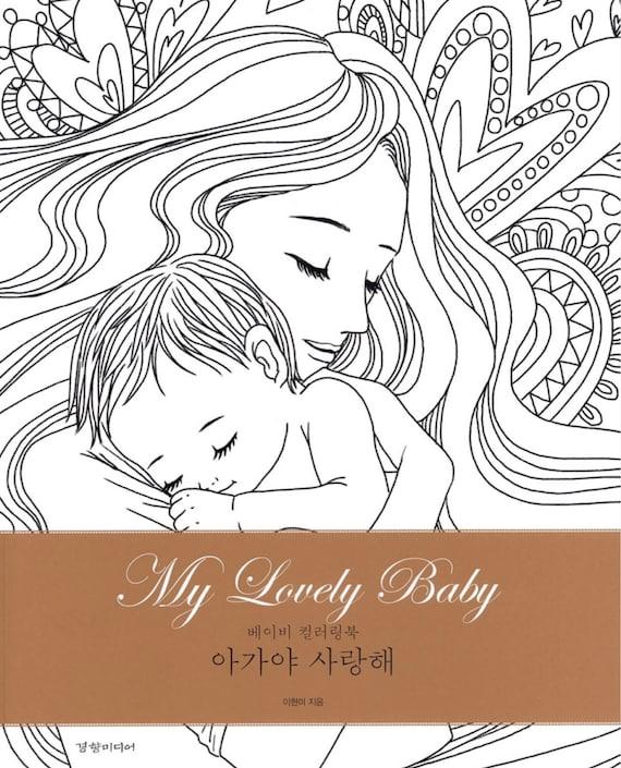 Mi bebé precioso de mujer embarazada libro para colorear