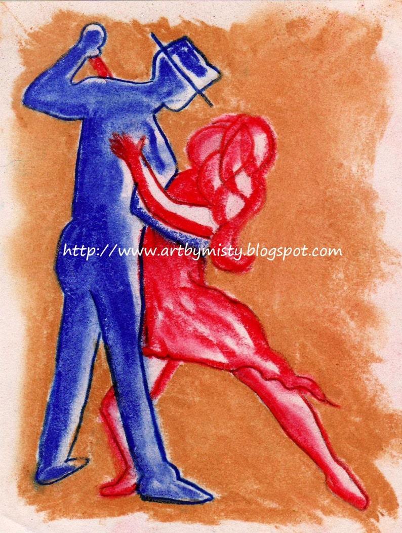 Dance with Me Print on Glass 8x10