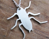 NYC ROACH urban pest sterling necklace